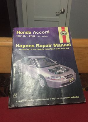 Haynes repair manual it's for a 1998 Honda Accord ex for Sale in Los Angeles, CA