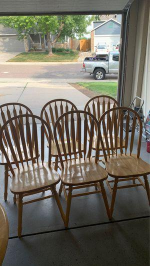 Oak chairs. 6. Free for Sale in Littleton, CO