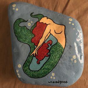 Painted Mermaid Rock for Sale in Lakeland, FL