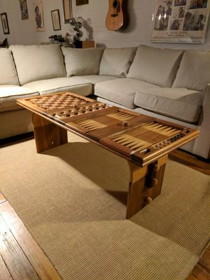 David Levy Creations Hardwood Game / coffee table for Sale in Jersey City, NJ