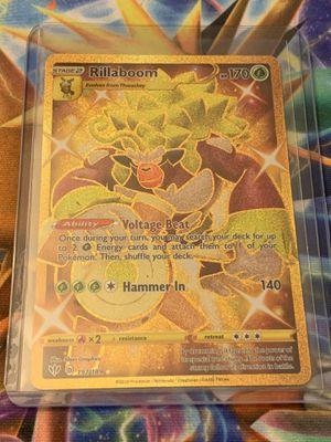 Pokémon sword & shield Darkness Ablaze Rillaboom Secret rare for Sale in Tustin, CA