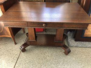 Antique Solid Oak Desk/Table for Sale in Youngsville, NC