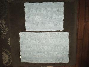 Bathroom rugs, Better Homes and Gardens, set of 2, light blue for Sale in Linden, VA