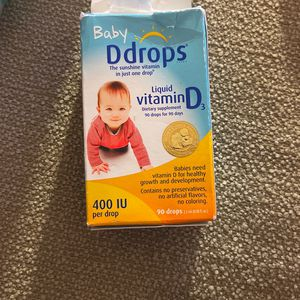 Baby D Drops -90 Drops And Pack Of Breast milk Storage Bags for Sale in San Jose, CA