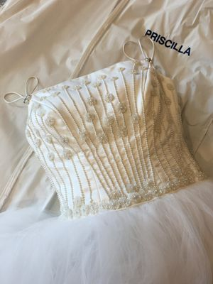 PRISCILLA OF BOSTON DESIGNER WEDDING DRESS for Sale in Ashburn, VA
