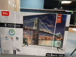 4k UHD TV - TCL 65inch 6-series. Full array TV with Dolby Vision and HDR10. Comes in excellent condition in box with 6 month warranty! for Sale in Peoria, AZ