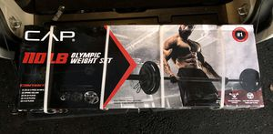 New Olympic Barbell with Plates (110lbs) for Sale in Falls Church, VA