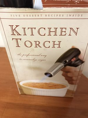 Kitchen Torch - Perfect for the Holiday Creme Brûlée for Sale in Pasadena, MD