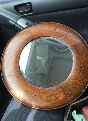 "Antique round mirror Wood frame. 18.5"" diameter for Sale in Rockville, MD"