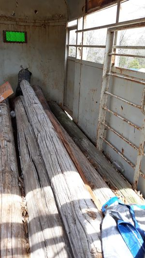 Wood Posts. 10-12 ft sections for Sale in Allen, OK