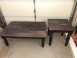 Coffee table and end table. Ethan Allen for Sale in Auberry, CA
