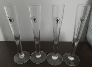 Glassware Barware Wyborowa Vodka Flutes. Set Of 4. Excellent Condition. No Chips, Cracks, Or Scratches. for Sale in Land O Lakes, FL