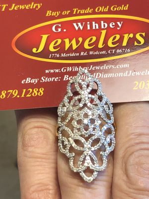 14 kt ,yellow gold & diamonds, cocktail ring for Sale in Wolcott, CT