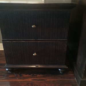 Dark Wood Stain Filing Cabinet/Night Stand/End Table for Sale in Austin, TX