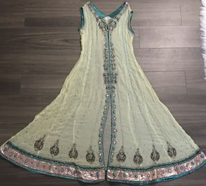 Pakistani Fancy Embroidered Lemon/Purple 4 Pieces Dress for Sale in Falls Church, VA