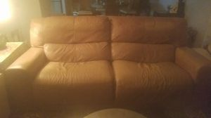 Reclining leather sofa for Sale in St. Louis, MO