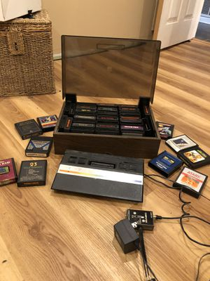 Atari jr 2600 with tons of games cartridges vintage for Sale in Costa Mesa, CA