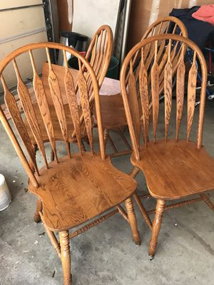 4 Wooden Dining Chairs for Sale in Medford Lakes, NJ