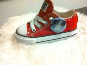 Custom red Chuck's little mermaid style for Sale in Lynnwood, WA