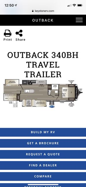 Outback 340BH Travel Trailer 2019 for Sale in CAMP ATTRBRY, IN