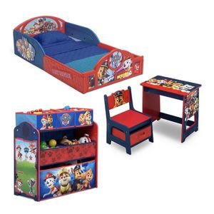 Nick Jr. PAW Patrol 4-Piece Room-in-a-Box Bedroom Set by Delta Children - Includes Sleep & Play Toddler Bed, 6 Bin Design & Store Toy Organizer and De for Sale in Houston, TX