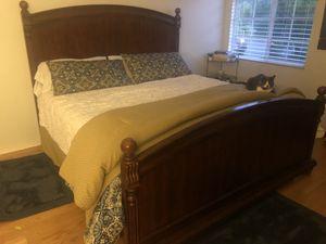 Wooden King Bed Frame for Sale in Zephyrhills, FL
