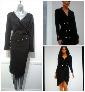 Sleeve Black & Gold button detail dress for Sale in Whittier, CA