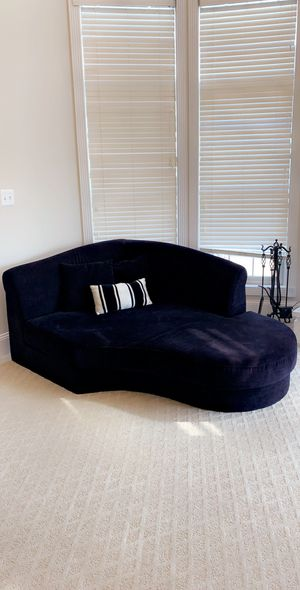 Beautiful black chase sofa super comfortable yet super stylish and modern. Hard find! for Sale in FX STATION, VA