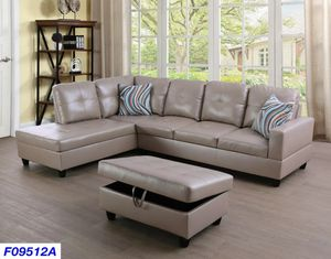 New Sectional with storage Ottoman for Sale in Puyallup, WA