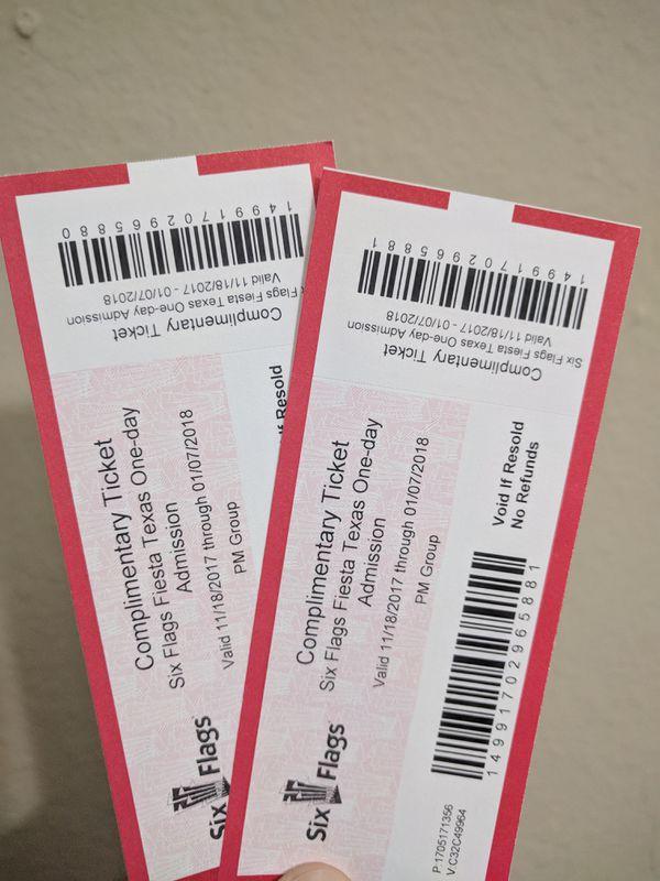Six Flags Fiesta Texas San Antonio Tickets For Sale In