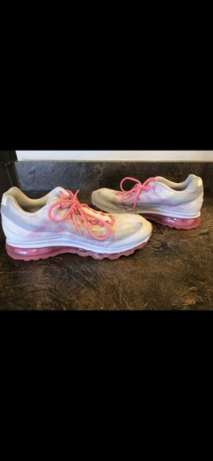 Nike Air Max 95 Womens Running Shoes White/Pink Size 10 for Sale in Martinsburg, WV