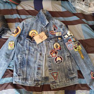 Bape crazy patch denim jacket for Sale in Jacksonville, FL