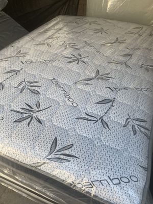 Queen size mattress set with spring box included for Sale in Torrance, CA