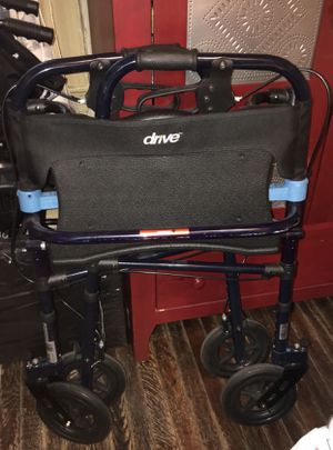 Drive clever lite walker with flip seat for Sale in Brooklyn, NY