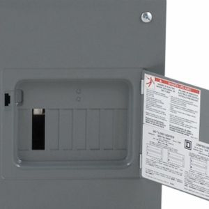 Square D Qo 100 Amp 8 space 16 circuit flush Mount lug load center drain it's cover door. for Sale in Austell, GA