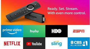 Fire TV Stick with Alexa Voice Remote, streaming media player (Includes $45 Sling TV credit) for Sale in Phoenixville, PA