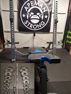 Nautilus Bench (squad rack) comes with Attachments plus more for Sale in Kent, WA
