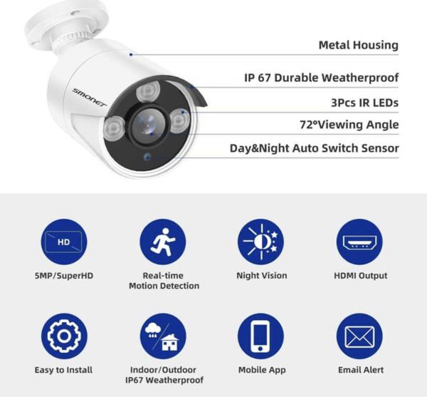 New 5MP Security Camera Waterproof wireless