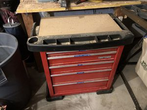 Craftsman 5 drawer tool chest with shop top for Sale in Missoula, MT