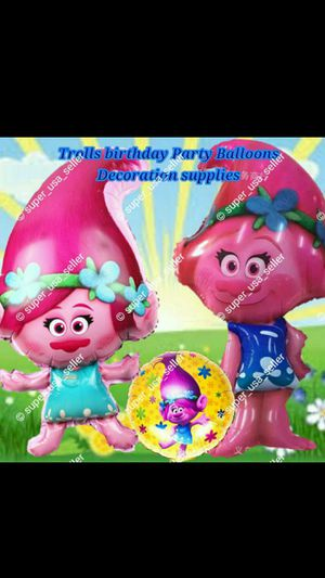 TROLLS BIRTHDAY PARTY BALLOON PARTY SUPPLIES for Sale in Hampton, VA