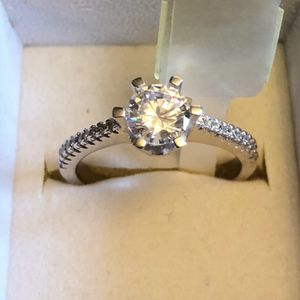 925 Solid Sterling Silver Diamond Promise Engagement Wedding Ring for Sale in San Jose, CA