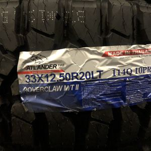 33/12.50R20LT ATLANDER 114Q10PR 33125020 for Sale in Dallas, TX