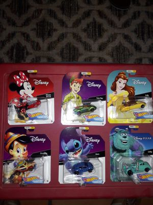 Hot wheels Disney cars series 2 lot of 6 cars for Sale in Peoria, AZ