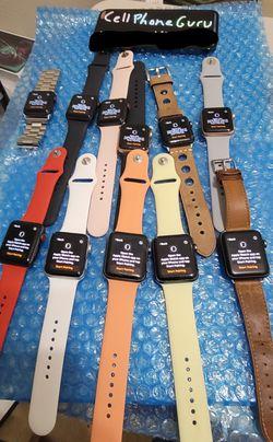 Apple watch Series 3 GPS Cellular 42mm 38mm UNLOCKED for Sale in Phoenix,  AZ