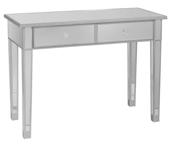 Southern Enterprise Mirage Mirrored 2-Drawer Console Table