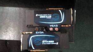 2 EVGA GeForce gtx580 FTW hydro copper 2 for Sale in Montgomery, AL