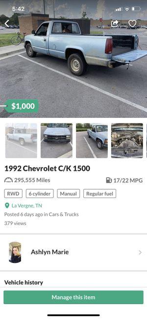 1992 Chevy Cheyenne for Sale in La Vergne, TN