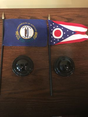 Kentucky and Ohio Desk Flags for Sale in Chantilly, VA