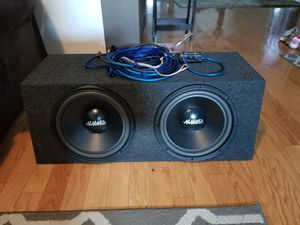 12 subs in box with amp for Sale in Mooresville, IN