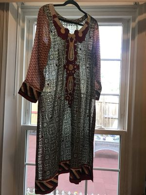 Black/ white and maroon tunic- Pakistan for Sale in Springfield, VA